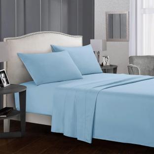 Комплект постельного белья евро из сатина Time Textile Небесный