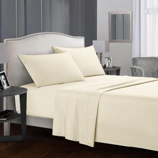 Комплект постельного белья двуспальный из сатина Time Textile Айвори