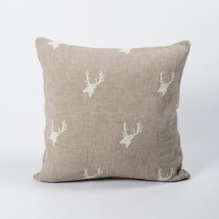 Новогодняя наволочка Barine - North Deer bej 45х45 см