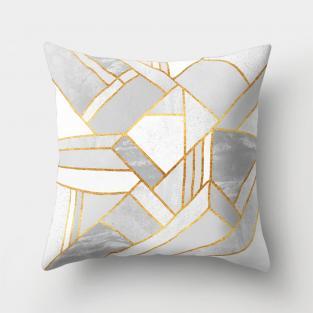 Подушка декоративная Gray geometry 45х45 см