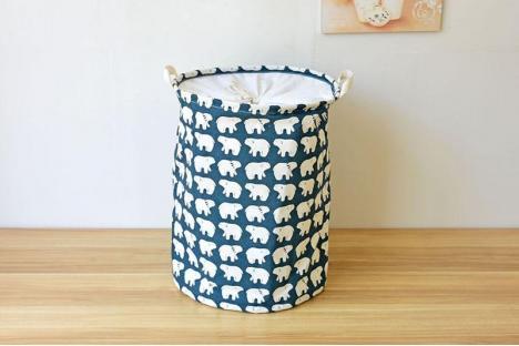 Корзина для игрушек на завязках Berni White Bears