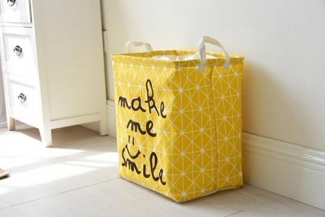 Корзина для игрушек на завязках Berni Smile yellow