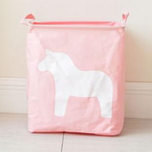 Корзина для игрушек Berni Horse pink