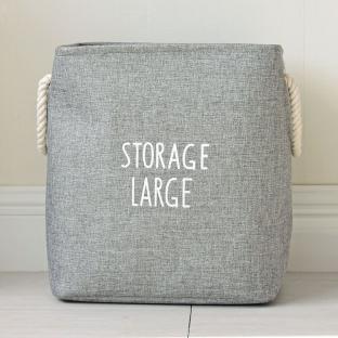 Корзина для игрушек на завязках Berni Storage gray