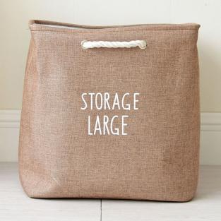 Корзина для игрушек на завязках Berni Storage brown