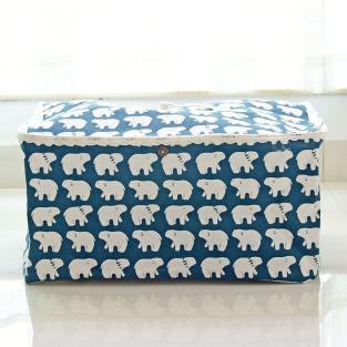 Корзина для игрушек с крышкой Berni White Bears