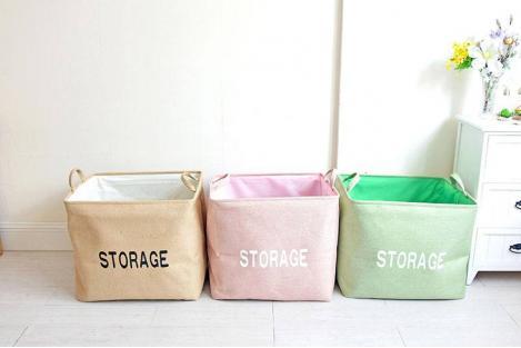Корзина для игрушек на завязках Berni Storage beige