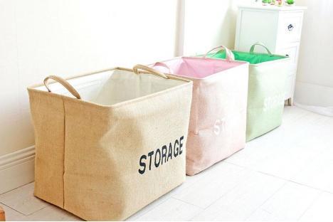 Корзина для игрушек на завязках Berni Storage pink