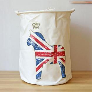 Корзина для игрушек на завязках Berni British Horse sand