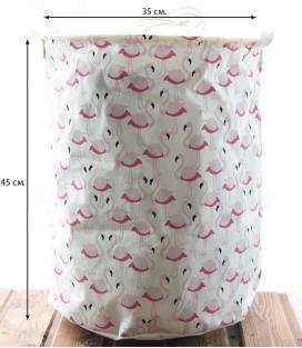 Корзина для игрушек на завязках Berni Flamingo