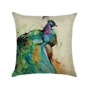 Декоративная подушка Peacock Watercolor