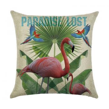 Подушка Фламинго и попугаи