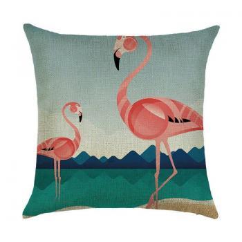 Подушка Фламинго на озере