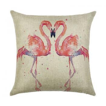Подушка Влюбленные фламинго