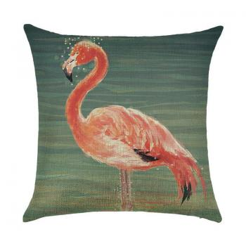 Подушка Фламинго в воде