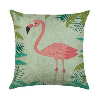 Подушка Фламинго в джунглях