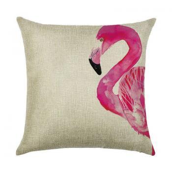 Подушка Фламинго акварель