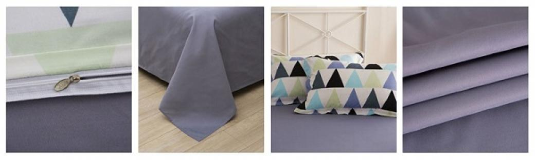 Комплект постельного белья Triangles Gray