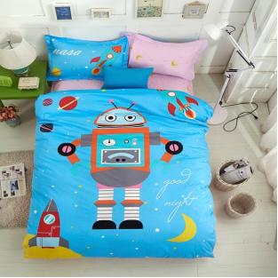 Комплект постельного белья Rabbit Robot in Space