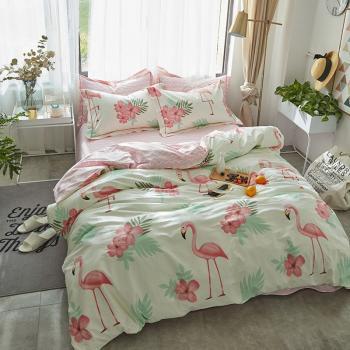 Фламинго в цветах (Евро)