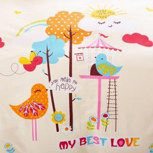 Комплект постельного белья Птичья любовь