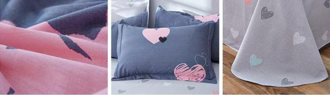 Комплект постельного белья Розовое сердце