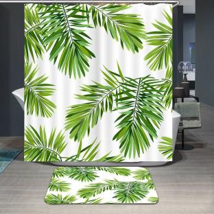 Штора для ванной Пальмовые листья 180х180 см
