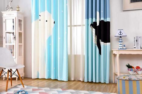 Шторы для деткой комнаты PolarBear and Whale