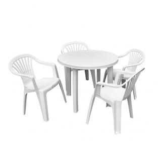 Набор стол Velo + 4 кресла Altea белый
