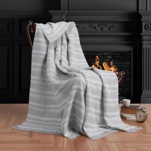 Плед Eponj Home Buldan Keten Desibel 170x220 gri серый