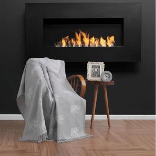 Плед Eponj Home Buldan Keten Fil 170x220 gri серый