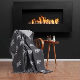 Плед Eponj Home Buldan Keten Fil 170x220 siyah черный