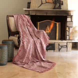 Плед Eponj Home Buldan Keten Linen 170x220 kiremit кирпичный
