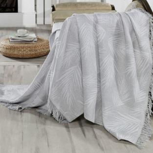 Плед Eponj Home Buldan Keten Palmiye 170x220 gri серый