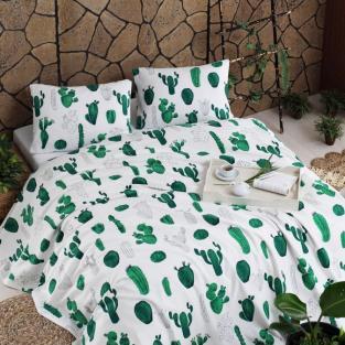 Покрывало пике вафельное Eponj Home Kaktus yesili 200х235 см