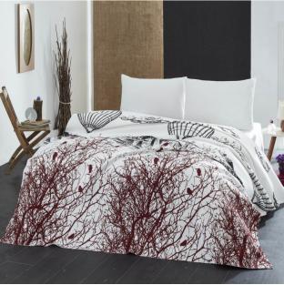 Покрывало пике вафельное Eponj Home Palvin beyaz 200х235 см