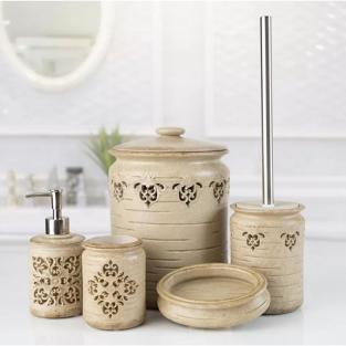 Комплект в ванную Irya Freda bej бежевый (5 предметов)