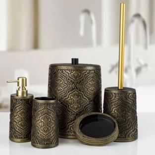 Комплект в ванную Irya Lane bronz бронзовый (5 предметов)