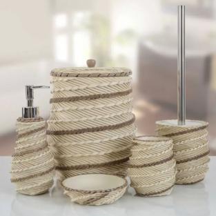 Комплект в ванную Irya Marva krem кремовый (5 предметов)