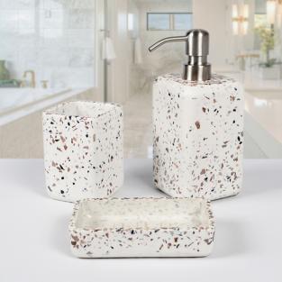 Комплект в ванную Irya Mozaik beyaz белый (3 предмета)