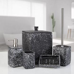 Комплект в ванную Irya Mozaik siyah черный (5 предметов)
