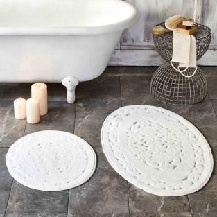 Набор ковриков Karaca Home Obi ecru 60x100 см + 50x60 см