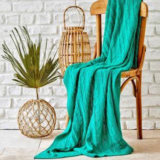 Плед вязанный Karaca Home Sofa yesil зеленый 130х170