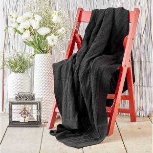 Плед вязанный Karaca Home Sofa siyah черный 130х170