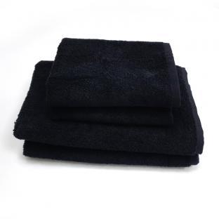 Полотенце махровое с бордюром Черный 40x70 см