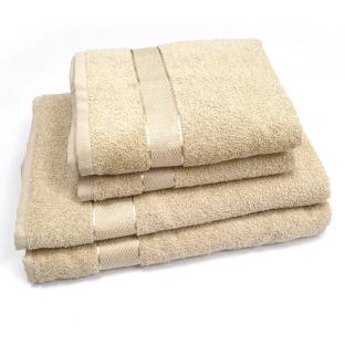 Полотенце махровое для лица с бордюром Капучино 50x90 см