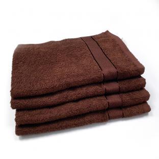Полотенце махровое для лица с бордюром Коричневый 50x90 см