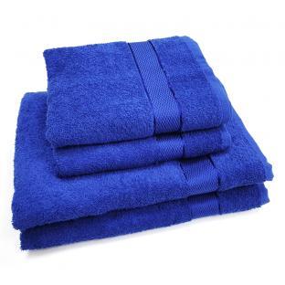 Полотенце махровое для лица с бордюром Синий 50x90 см