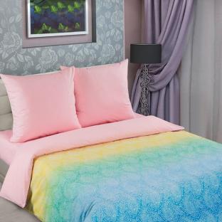 Комплект постельного белья из поплина Радуга-роза