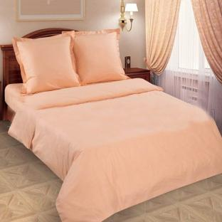 Комплект постельного белья из поплина Персик
